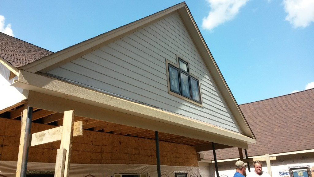 Hardie Plank works well for siding as well as soffit.
