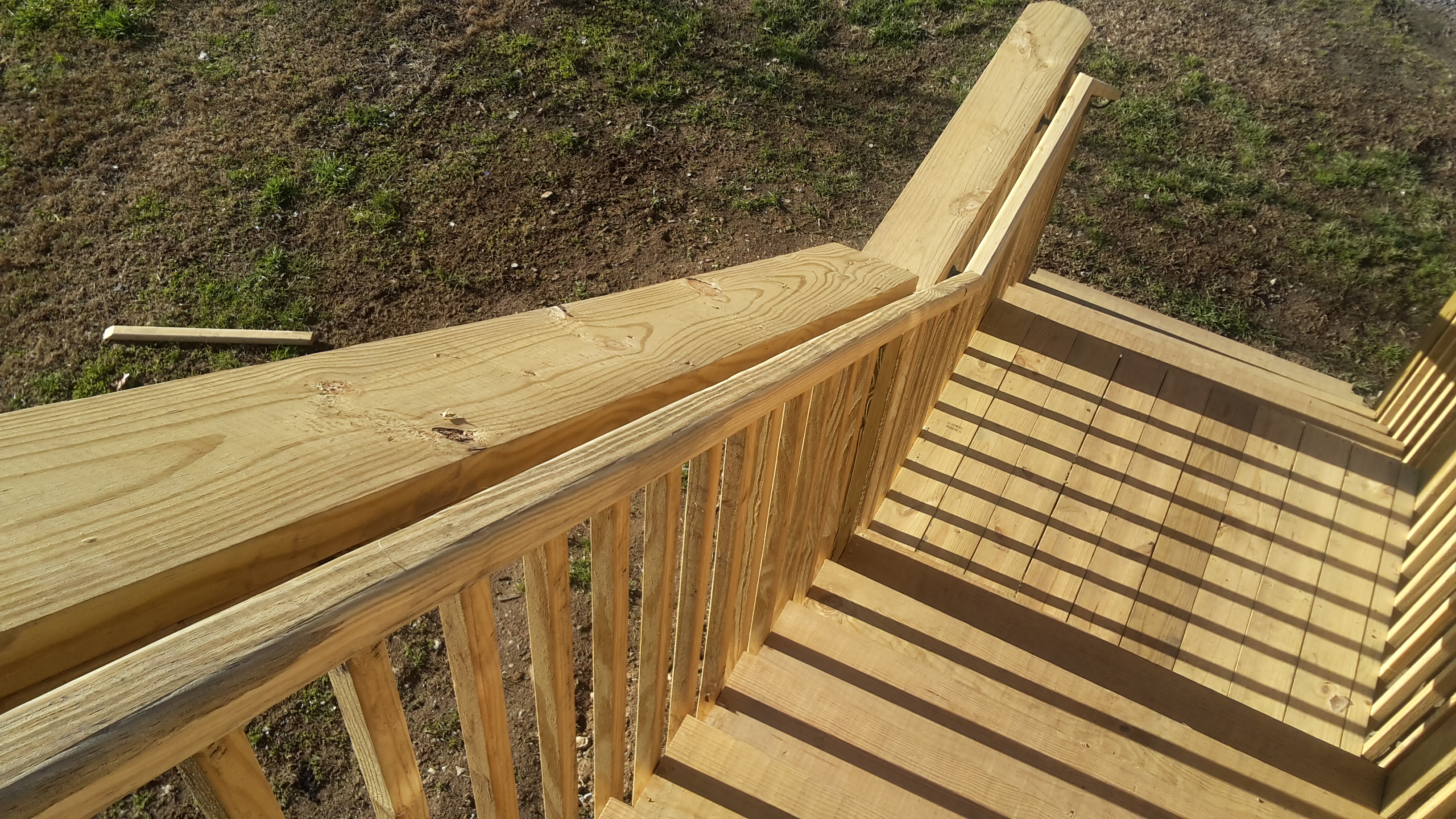 Stair railing height for decks, ramps, and interiors